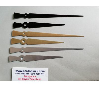 Akrep 13 cm Yelkovan 18 cm Metal Siyah Gümüş Veya Gold