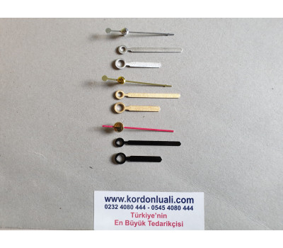 Akrep 3,5 cm Yelkovan 5 cm  Metal Siyah Gümüş Veya Gold