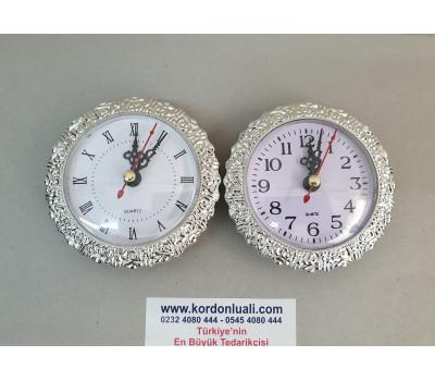 Geçme Saat  9.5 cm Gümüş Kaplama 100 Adet