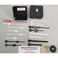 Saat Makinası Askısız Akar Şaft 16,5 mm Plastik Akrep Yelkovan 100 Ad