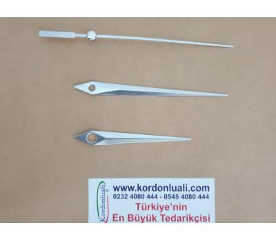 Akrep 7 cm Yelkovan 9,3 cm Metal Gümüş 100 Adet