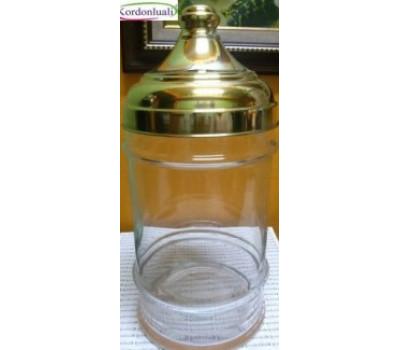 Cam Teşhir Kavanozu 33 cm Pirinç Kapaklı